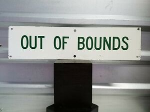"Vintage Metal Out Of Bounds Sign 20"" X 5"" Golf Course Marker"