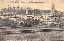 6483) SALUTI DA CONEGLIANO (TREVISO) PANORAMA VEDUTO DALLA STAZIONE. VG.