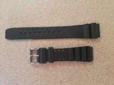 Squale Rubber Dive Watch Strap / Band w/ Buckle - OEM / Great Shape & Deal