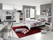 Jugendzimmer Noosa 8tlg Grau Kinderzimmer Kind Jugend Schreibtisch Bett 109995