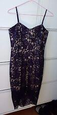 *new* Rodeo Show Purple Lace Hi-Lo Adjustable Straps Dress 8 'Jett' Sweetheart