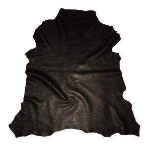 Reduced $ - Soft Classic Black Sheepskin Leather Hide