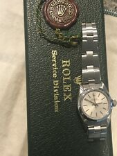 Rolex Oyster Perpetual Ladies 67180 Stainless Steel Watch C.1986 Sapphire Glass.