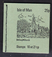 Isle of Man  1973 25p. Booklet Ballaugh Church Inverted