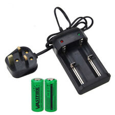 2pcs 26650 3.7v 8000mah Li-ion Rechargeable Battery 4.2v UK Plug Charger