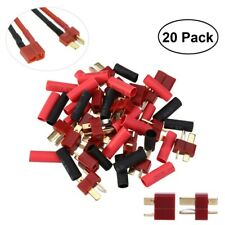 20pcs Ultra T-Plug Connectors Deans Style +20*Shrink Tubing for RC LiPo Battery