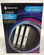 Member Mark Remanufactured Inkjet Cartridge HP 902XL 3 Pack Cyan Magenta Yellow