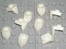 LEGO 10 White Plates Modified 1 x 1 with Tooth Vertical Mixels Teeth NEW