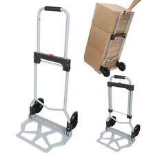 Portable Folding Hand Truck Dolly Luggage Carts, Silver, 220 lbs Handling Cart