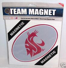"Oval 8*5"" Magnet WSU Cougars Logo Washington State Car/Office/Frig/Fan Gift USA"