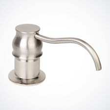 NEW Euro Modern Kitchen Sink Faucet Soap Dispenser Brushed Nickel Pump & Bottle