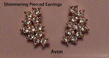 Vintage Avon Shimmering Cocktail  Earrings Pierced Gold Never Worn
