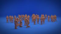 1/700 IJN navy Pilots WW2 3D Figures NorthStarModels
