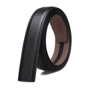 Genuine Leather Belt Men Automatic Belt Only Strap No Buckle - 3.5cm width
