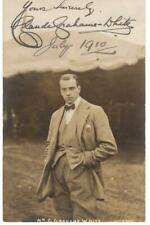 1910 autographed real photo post card Claude Grahame-White aviation aviator