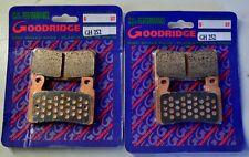 HONDA CBR929RR 2001 FRONT BRAKE PADS BRAKE GOODRIDGE HH SINTERED BRAKE PADS P...