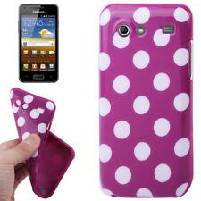 TPU Case für Samsung i9070 Galaxy S Advance in lila mit weißen Punkten Hülle