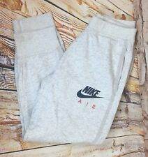 Genuine Boys Youth Large NIKE AIR Grey Joggers Tracksuit Bottoms Pants Age 12-13