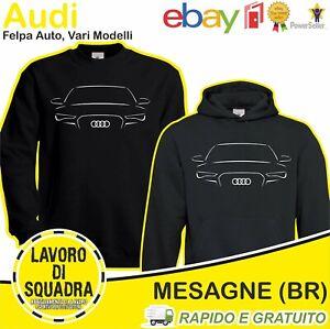 Felpa - Audi - Auto Car Quattro RS A1 A3 A4 A6 AVANT Q3 Q5 Q7 Q8 Idea Regalo