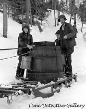 A Vat Full of Maple Sap for Syrup, Waitsfield VT -1940- Historic Photo Print