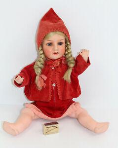 Antik Heubach Köppelsdorf 302.4. Germany Puppe Porzellankopf Mädchen Porzellan