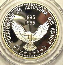 Azores 1995 Autonomy Eagle 100 Escudos Silver Coin,Proof