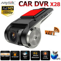 Anytek X28 Dashcam Car DVR Autokamera 1080p Videos Recorder WiFi ADAS G-sensor