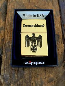 ZIPPO Gold Vintage- REICHSADLER mit Namensgravur KOSTENLOS - CNC Gravur
