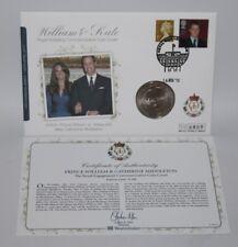 2010 ALDERNEY £ 5 FAR rintracciare COIN COVER-PRINCIPE WILLIAM & KATE MIDDLETON Fidanzamento
