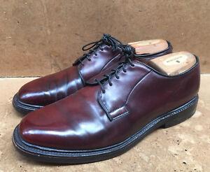 Allen Edmonds Leeds Brown Shell Cordovan Derby Dress Shoes USA 8.5 D   UK 7.5
