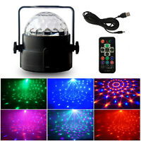Disco Stage Light Club Party Crystal Magic Ball Effect Rotating LED KTV Bar Lamp