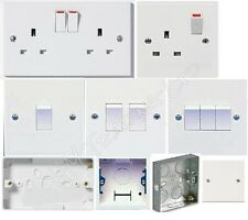 13 AMP White Plastic Electrical Switch Sockets Fitting Plug Wall Light Electric