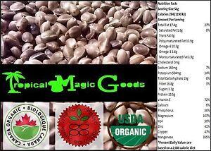 Certified Organic Non-GMO 100% Pure & Natural CANADIAN Whole Hemp Seeds (80 gr)