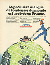 Publicité Advertising 1974  ROPER tondeuse à gazon pelouse
