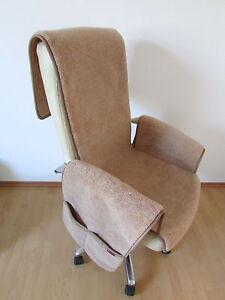 Sesselschoner, Sesselauflage mit Taschen Überwurf, Alpaca Wolle  Made in Germany