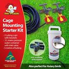 Dine a Chook Cage Mounting Kit #3 - Two Cup, Mains Pressure Chicken Drinker