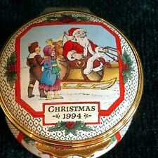 Halcyon Days Enamel 1994 Christmas Box Nwob Complete your Collection