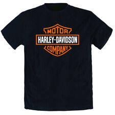 T-shirt moto Harley davidson da uomo replica bianca o nera cotone 100%