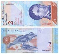 Venezuela 2 Bolivares 2012 P-88d Banknotes UNC