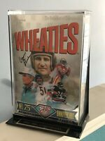 Vintage 1990s SIGNED Wheaties box by Don Shula Miami dolphins NFL hologram
