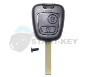 Peugeot Citroen C1 C2 C3 107  307 Aygo Auto Schlüssel Ersatz 2 Tasten Gehäuse