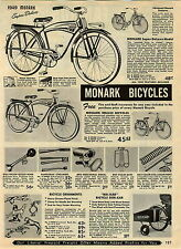 1949 ADVERTISEMENT Bike Bicycle Monark Balloon Tank Ornaments Bik-Kar Sidecar