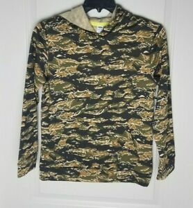 Old Navy boys camo printed pullover hoodie sz L 10-12 new! stretch