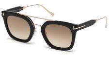 Tom Ford Alex -02 TF0541 01F Shiny Black / Gradient Brown 51mm Sunglasses FT0541