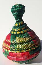Colorful Ethiopian Basket - Decor - Woven Basket Ethiopia,Ethiopie