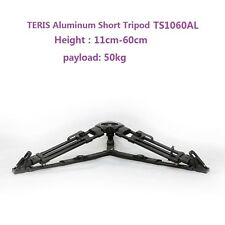 TERIS Short Tripod Professional Video Camera Tripod Aluminum  Load 50KG