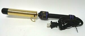 HOT TOOLS Signature Series Gold Flipperless Curling Iron + Wand, 1.25 Inch