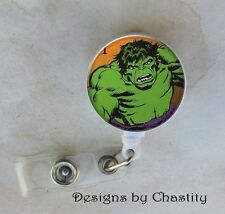 Hulk Badge Reel Retractable Holder Belt Clip ID Teacher RN Nurse Postage Stamp