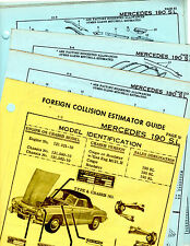 MERCEDES BENZ 190SL COUPE ROADSTER BODY PARTS FRAME ORIGINAL CRASH SHEETS MF 2