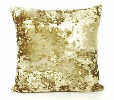 """LUXURY THICK CRUSHED ANTIQUE GOLD VELVET 17"""" CUSHION COVER £8.99 EACH UK MADE"""